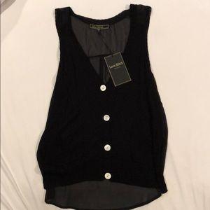 NWT Love Stitch Sleeveless Knit Top Size S